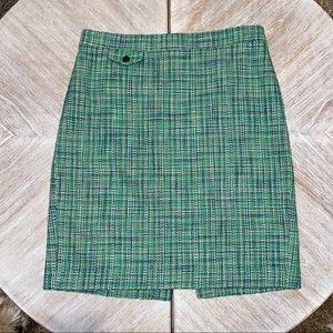 J Crew tweed pencil skirt size 8